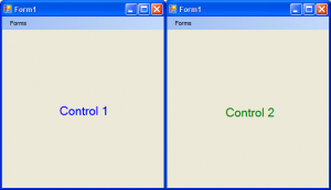 Figure 6 - Our User Controls in action